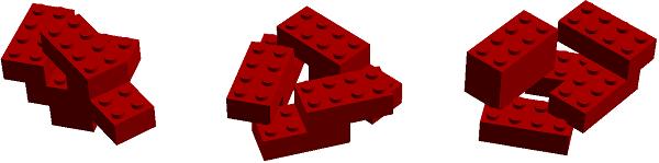 Bricks connected at odd angles
